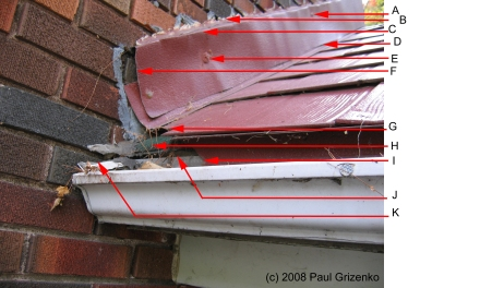 Example of poor detailing on an aluminum roof install.